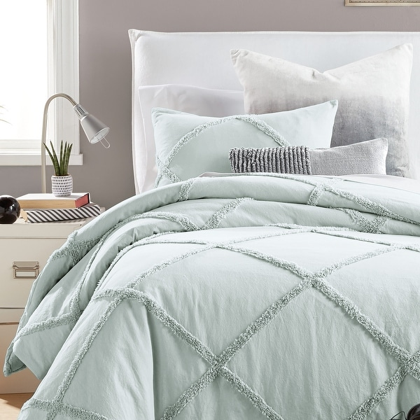 Camille Lattice Cotton Comforter and Sham Set. Opens flyout.