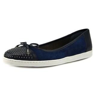 J. Renee Marenda Women  Round Toe Leather Blue Flats