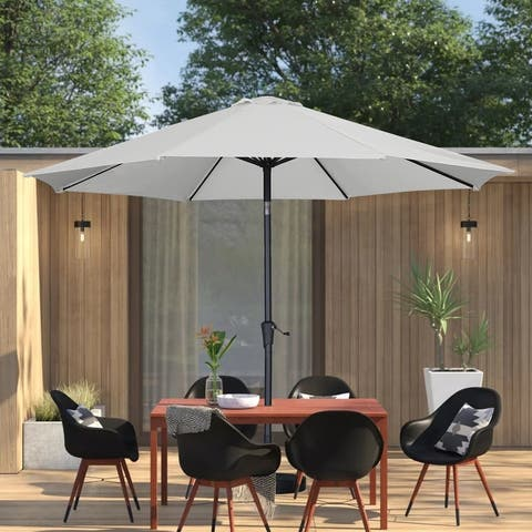 Ainfox 11ft Patio Umbrella Outdoor Umbrella with Tilt and Crank