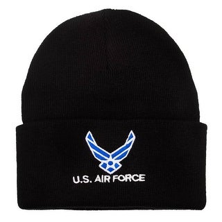 United States Air Force Military Cuffed Black Beanie