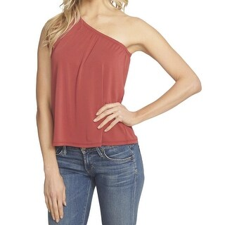 1. State Orange Womens Size Small S One-Shoulder Ruffle Knit Top