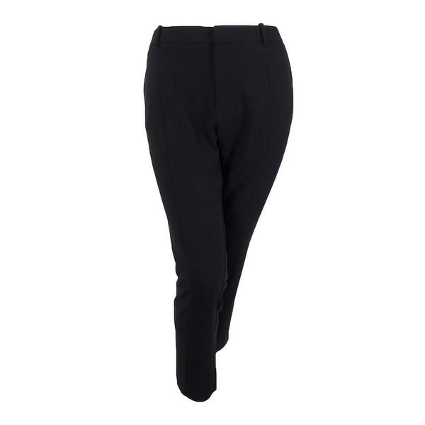 20bb3ee062 RACHEL Rachel Roy Women's Curvy Plus Size Ingrid Slim-Leg Pants (16W,  Black) - Black - 16W