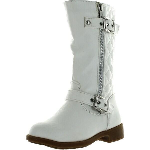 Lucky Top Girls Pack-95K Riding Zipper Boots White