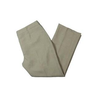 Le Suit Womens Petites Seychelles Dress Pants Melange Flat Front - 14P