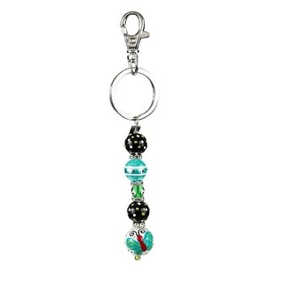 Butterfly Wishes Rhinestone Glass Beaded Kate and Macy Keychain Clementine