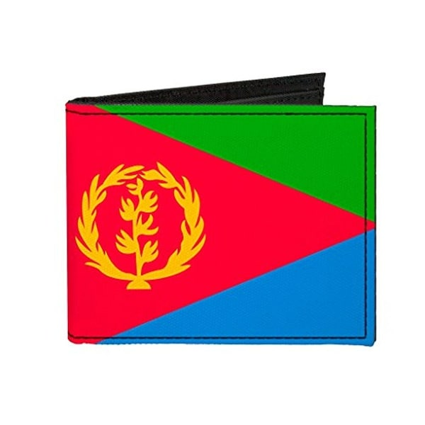 Buckle-Down Canvas Bi-fold Wallet - Eritrea Flag Accessory