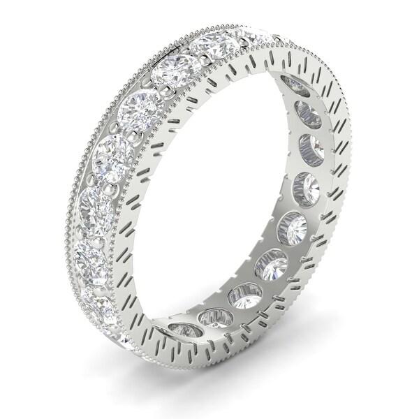 14KT Gold Vintage Round Cut Diamond Eternity Wedding Ring 2.00 CTW