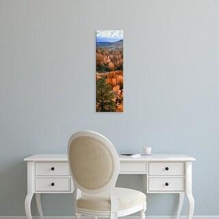 Easy Art Prints Panoramic Image 'Hoodoos Of Bryce Canyon In Bryce Canyon National Park, Utah, USA' Premium Canvas Art