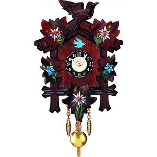 Engstler Battery-Operated Clock Various Flowers with Music & Chimes