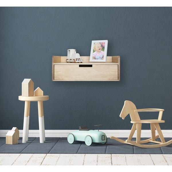 Kate and Laurel Kitt Floating Shelf Side Table