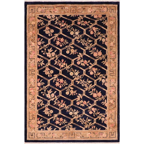 """Shabby Chic Ziegler Oliva Hand Knotted Area Rug -6'1"""" x 9'3"""" - 6 ft. 1 in. X 9 ft. 3 in."""