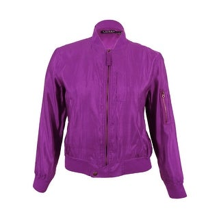 Lauren Ralph Lauren Women's Bomber Jacket (Purple, 12) - Purple - 12