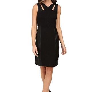 Laundry by Shelli Segal Black Womens Size 2 Cut-Out Sheath Dress