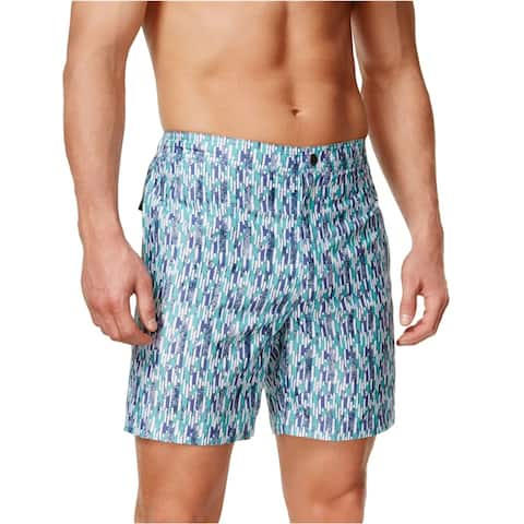 Calvin Klein Mens Vintage Geometric Swim Bottom Board Shorts