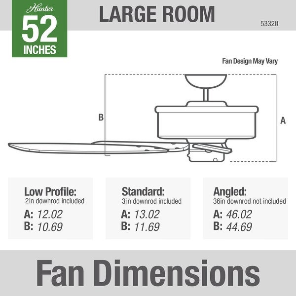 """Hunter 52"""" Newsome Ceiling Fan with Pull Chain.."""
