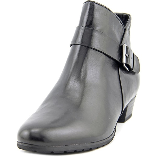 Gerry Weber Caren 07 Women Round Toe Leather Black Ankle Boot