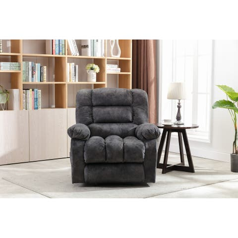Massage Recliner Chair with Heat and Vibration (Gray)
