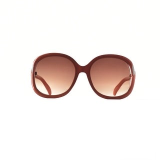 Womens Oversize Round Sunglasses with Cut Out Frame and Subtle Metal Accents