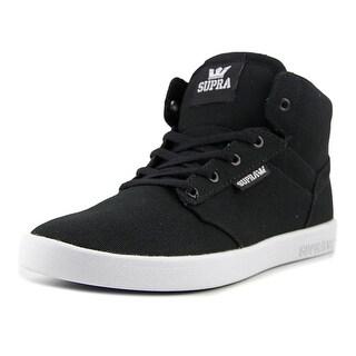 Supra Yorek Hi Youth Round Toe Canvas Black Tennis Shoe
