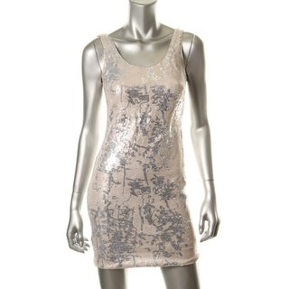 Aidan Mattox Womens Sequined Sleeveless Clubwear Dress - 6