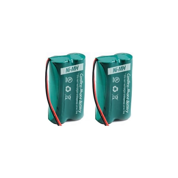 Replacement For GE/RCA 5-2814 / 5-2826 Cordless Phone Battery (500mAh, 2.4V, Ni-MH) - 2 Pack