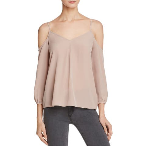 Joie Womens Cold Shoulder Knit Blouse, pink, Small