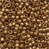 Miyuki Delica Seed Beads 11/0 Metallic Lt Bronze DB022L 7.2 GR