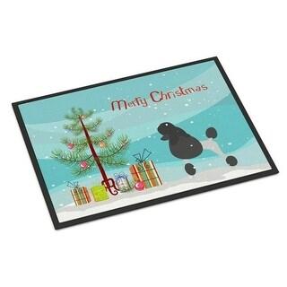 Carolines Treasures BB2957JMAT Poodle Merry Christmas Tree Indoor or Outdoor Mat 24 x 36