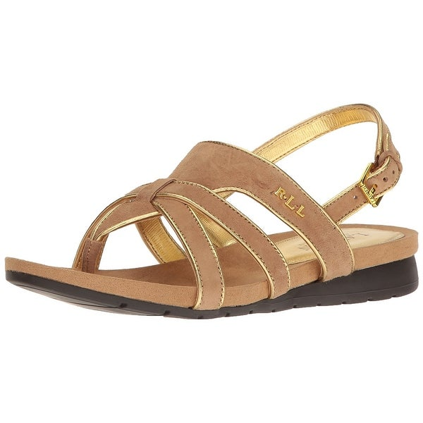 LAUREN by Ralph Lauren Womens Lindsay Suede Open Toe Casual Strappy Sandals