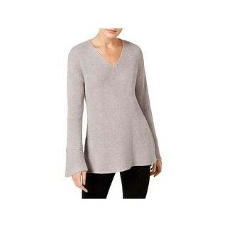 Calvin Klein Womens Sweater Glitter Flare Sleeves