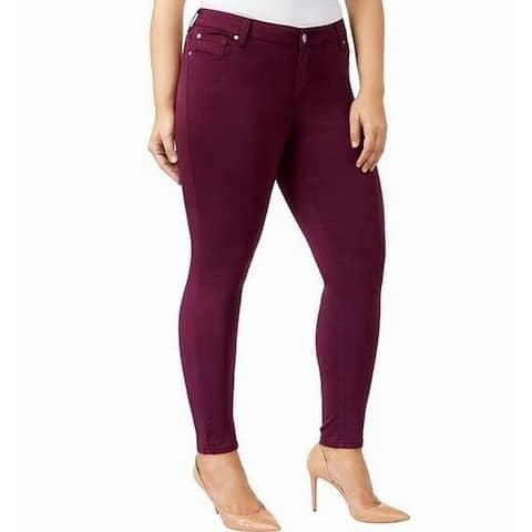 CELEBRITY PINK Red Women 16 Plus Jayden Skinny Leg Stretch Pants