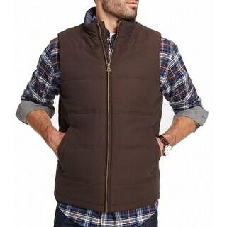 Weatherproof Mens Small Mock-Neck Full-Zip Vest Jacket