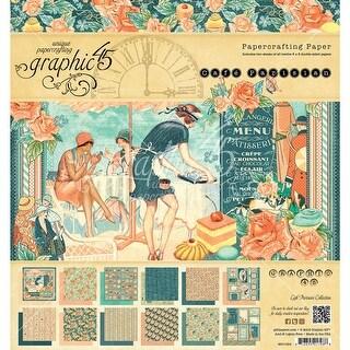"Graphic 45 Double-Sided Paper Pad 8""X8"" 24/Pkg-Cafe Parisian, 12 Designs/2 Each"