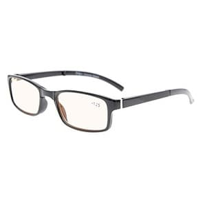 15f3fedad20 Shop Eyekepper Readers Unique Spring Hinges Folding Amber Tinted Lenses  Computer Reading Glasses Black+0.5 - Free Shipping On Orders Over  45 -  Overstock - ...