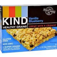 Kind Fruit and Nut Bars - Healthy Grains Granola Bars - Vanilla Blueberry ( 40 - 1.2 OZ)