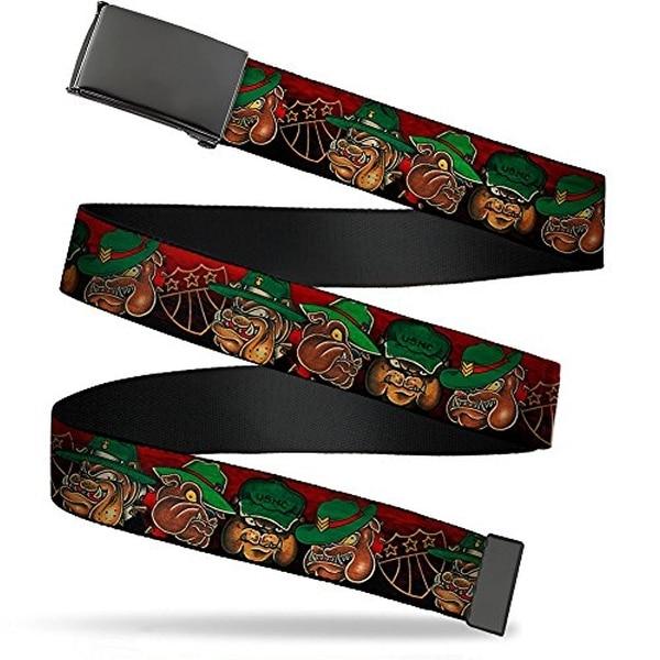 """Buckle-Down Web Belt Tattoo Johnny Bulldog 1.5"""""""