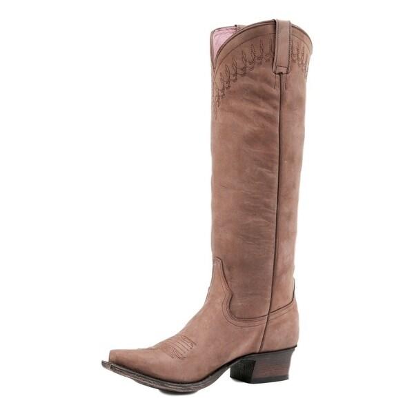 Miss Macie Western Boots Womens Telluride Stitching Brown
