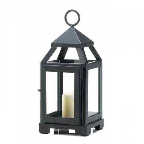One Black and One Silver Mini Contemporary Lantern