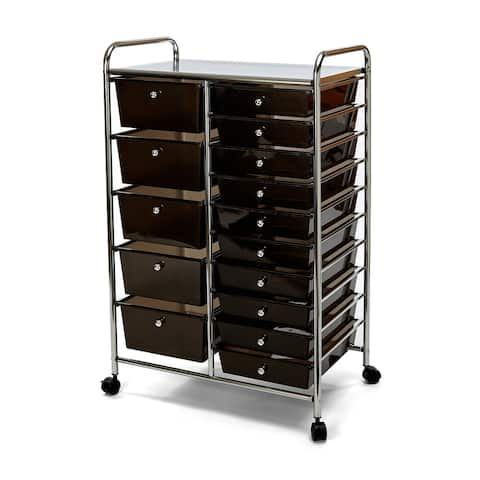 Seville Classics 15-Drawer Organizer Cart