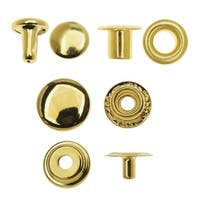 Create Recklessly, Eyelet / Rivet / Snap Hardware Kit, 58 Total Pieces, Brass Plated