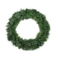 "36"" Mixed Cashmere Pine Artificial Christmas Wreath - Unlit - green"