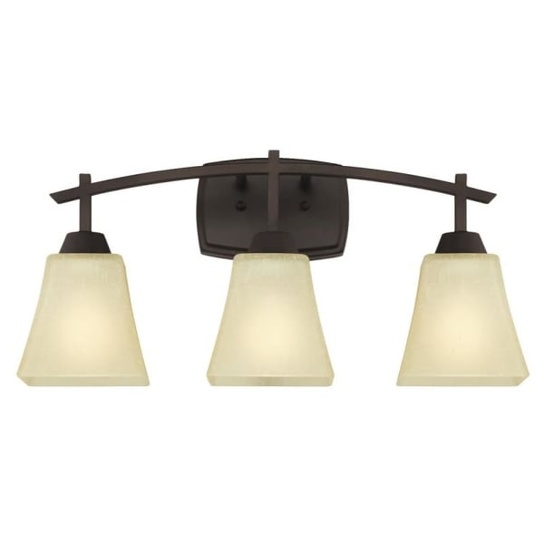 "Westinghouse 6307500 Midori 21"" Wide 3 Light Bathroom Vanity Light with Glass Shades"