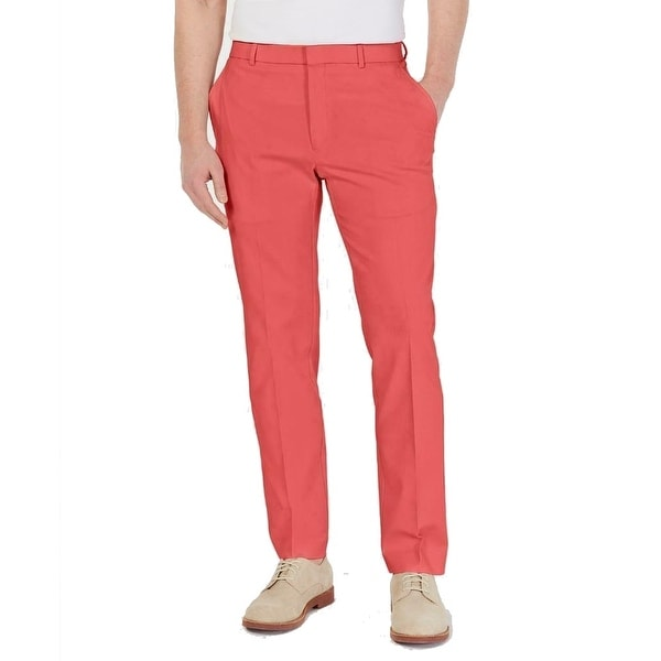 Tommy Hilfiger Mens Pants Red Size 38x29 Twill Modern Fit Chino Stretch. Opens flyout.