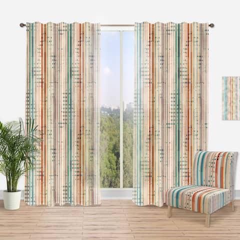Carson Carrington Tangsatter 'Grunge Line' Modern Curtain Panel