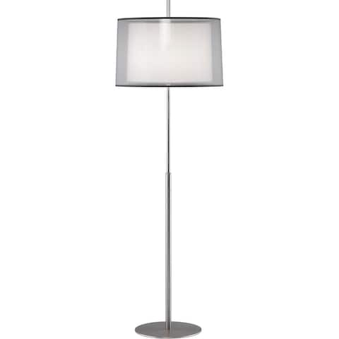 Robert Abbey S2191 One Light Floor Lamp Saturnia Stainless Steel - One Size