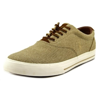 Polo Ralph Lauren Vaughn Men Canvas Tan Fashion Sneakers