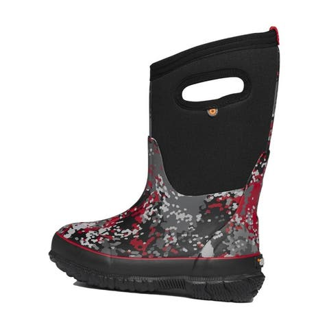 Bogs Outdoor Boots Boys Classic Micro Camo Waterproof Pull On