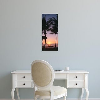 Easy Art Prints Panoramic Images's 'Silhouette of trees at dusk, Mauna Lani Resort, Maui, Hawaii, USA' Canvas Art