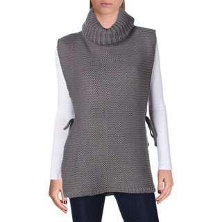 Verloop Womens Turtleneck Sweater Open Sides Tabard - o/s