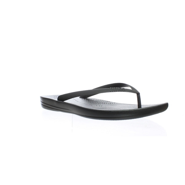 0109590a1 Shop FitFlop Mens Iqushion Black Flip Flops Size 13 - Free Shipping ...